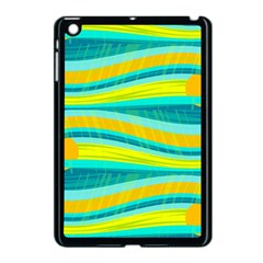 Yellow And Blue Decorative Design Apple Ipad Mini Case (black) by Valentinaart