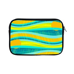 Yellow And Blue Decorative Design Apple Ipad Mini Zipper Cases by Valentinaart