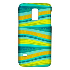 Yellow And Blue Decorative Design Galaxy S5 Mini by Valentinaart