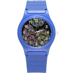 Crush  Round Plastic Sport Watch (s) by Valentinaart