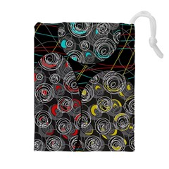 Crush  Drawstring Pouches (extra Large) by Valentinaart
