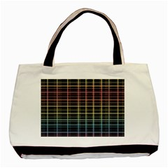 Neon Plaid Design Basic Tote Bag by Valentinaart