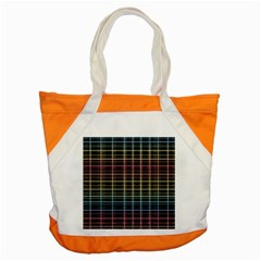 Neon Plaid Design Accent Tote Bag by Valentinaart