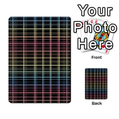 Neon Plaid Design Multi Purpose Cards (rectangle)  by Valentinaart
