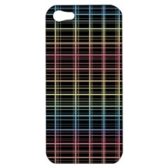 Neon Plaid Design Apple Iphone 5 Hardshell Case by Valentinaart