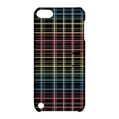 Neon Plaid Design Apple Ipod Touch 5 Hardshell Case With Stand by Valentinaart