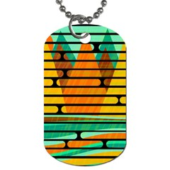 Decorative Autumn Landscape Dog Tag (two Sides) by Valentinaart