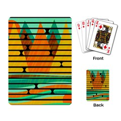 Decorative Autumn Landscape Playing Card by Valentinaart