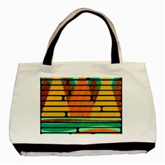 Decorative Autumn Landscape Basic Tote Bag by Valentinaart