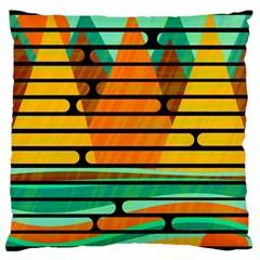 Decorative Autumn Landscape Large Cushion Case (one Side) by Valentinaart