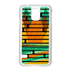 Decorative Autumn Landscape Samsung Galaxy S5 Case (white) by Valentinaart