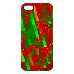 Xmas Trees Decorative Design Iphone 5s/ Se Premium Hardshell Case by Valentinaart