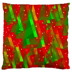 Xmas Trees Decorative Design Standard Flano Cushion Case (two Sides) by Valentinaart
