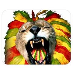 Reggae Lion Double Sided Flano Blanket (Medium)  by Zeze