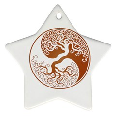 Tree Of Life Yin Yang Star Ornament (Two Sides)  by Zeze