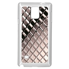 3d Abstract Metal Silver Pattern Samsung Galaxy Note 4 Case (White) by Zeze