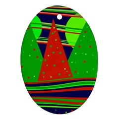 Magical Xmas Night Ornament (oval)