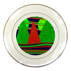 Magical Xmas Night Porcelain Plates by Valentinaart