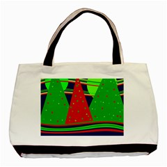 Magical Xmas Night Basic Tote Bag (two Sides) by Valentinaart