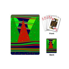 Magical Xmas Night Playing Cards (mini)  by Valentinaart