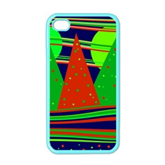 Magical Xmas Night Apple Iphone 4 Case (color) by Valentinaart