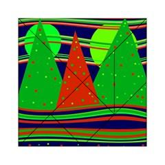 Magical Xmas Night Acrylic Tangram Puzzle (6  X 6 ) by Valentinaart