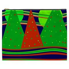 Magical Xmas Night Cosmetic Bag (xxxl)  by Valentinaart