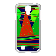 Magical Xmas Night Samsung Galaxy S4 I9500/ I9505 Case (white) by Valentinaart