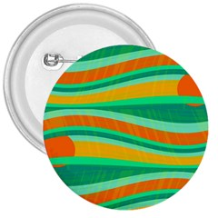 Green and orange decorative design 3  Buttons by Valentinaart