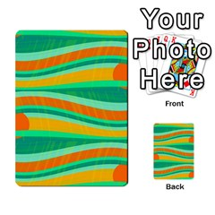 Green And Orange Decorative Design Multi Purpose Cards (rectangle)  by Valentinaart