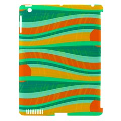 Green And Orange Decorative Design Apple Ipad 3/4 Hardshell Case (compatible With Smart Cover) by Valentinaart