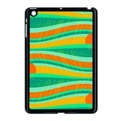 Green And Orange Decorative Design Apple Ipad Mini Case (black) by Valentinaart