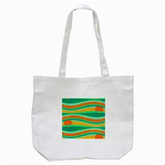 Green And Orange Decorative Design Tote Bag (white) by Valentinaart