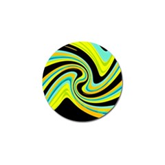 Blue And Yellow Golf Ball Marker by Valentinaart