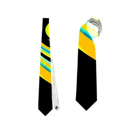 Blue And Yellow Neckties (one Side)