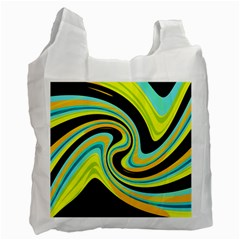 Blue And Yellow Recycle Bag (one Side) by Valentinaart