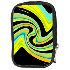 Blue And Yellow Compact Camera Cases by Valentinaart