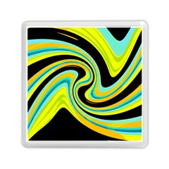 Blue And Yellow Memory Card Reader (square)  by Valentinaart
