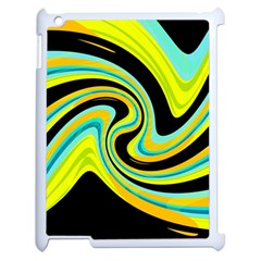 Blue And Yellow Apple Ipad 2 Case (white) by Valentinaart