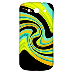 Blue And Yellow Samsung Galaxy S3 S Iii Classic Hardshell Back Case by Valentinaart