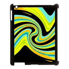Blue And Yellow Apple Ipad 3/4 Case (black) by Valentinaart