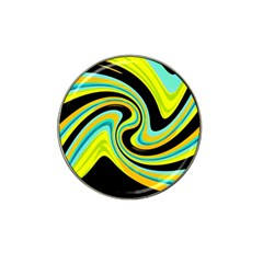 Blue And Yellow Hat Clip Ball Marker (4 Pack) by Valentinaart