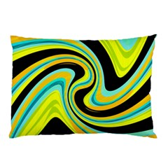 Blue And Yellow Pillow Case by Valentinaart