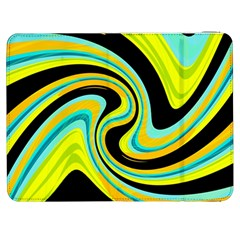 Blue And Yellow Samsung Galaxy Tab 7  P1000 Flip Case by Valentinaart