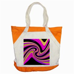 Pink And Yellow Accent Tote Bag by Valentinaart