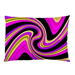Pink And Yellow Pillow Case by Valentinaart