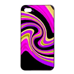 Pink And Yellow Apple Iphone 4/4s Seamless Case (black) by Valentinaart