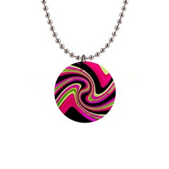 Magenta And Yellow Button Necklaces by Valentinaart