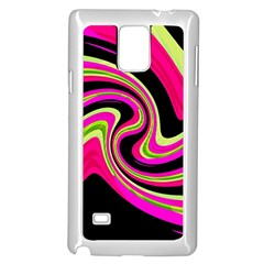 Magenta And Yellow Samsung Galaxy Note 4 Case (white) by Valentinaart