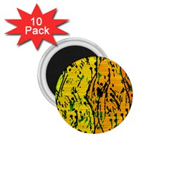 Gentle Yellow Abstract Art 1 75  Magnets (10 Pack)  by Valentinaart